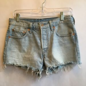 LEVIS RED TAB 501 BUTTON FRONT CUT OFF SHORTS